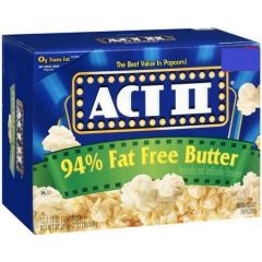Act Ii 94 Fat Free Butter Popcorn