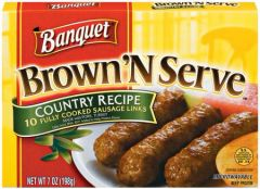 Banquet Brown N Serve Country Recipe Links 10 Count