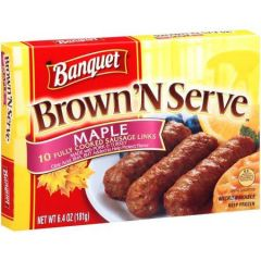 Banquet Brown N Serve Maple Sausage Links 10 Count