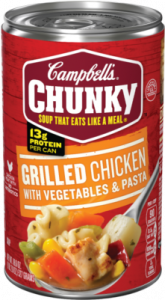Campbells Chunky Grilled Chicken with Vegetables and Pasta Soup