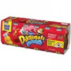 Danimals Smoothie Strawberry Explosion & Banana Split Yogurt Drink