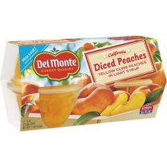 Del Monte Diced Peaches Low Sugar Fruit Cups
