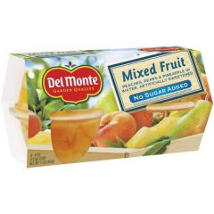 Del Monte Mixed Fruit Cups No Sugar Added