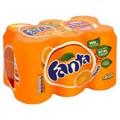 Fanta Orange Can 6 Pack Soda