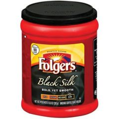 Folgers Black Silk Dark Ground Coffee