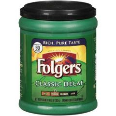 Folgers Medium Classic Decaf Ground Coffee