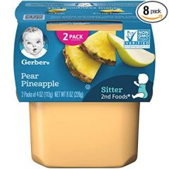 Gerber Dessert Blended Fruits with Oatmeal, Pear & Pineapple