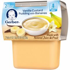 Gerber Dessert Vanilla Custard Pudding with Bananas