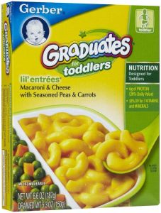 Gerber Lil Entrees Macaroni & Cheese With Peas & Carrots