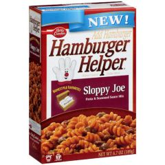Hamburger Helper Classic Sloppy Joe Pasta Seasoned Sauce Mix 6.7 Oz