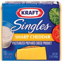 Kraft Singles Sharp Cheddar Cheese16 Slices