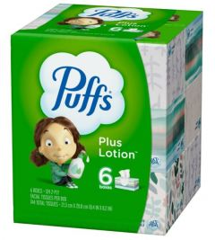 Puffs Plus Lotion 2 Ply 124 Ct