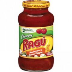 Ragu Mushroom And Green Pepper Chunky Gardenstyle Pasta Sauce